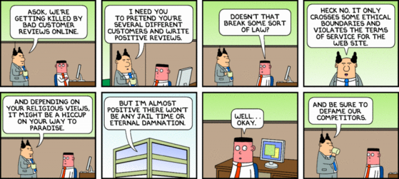 Online Reputation Dilbert
