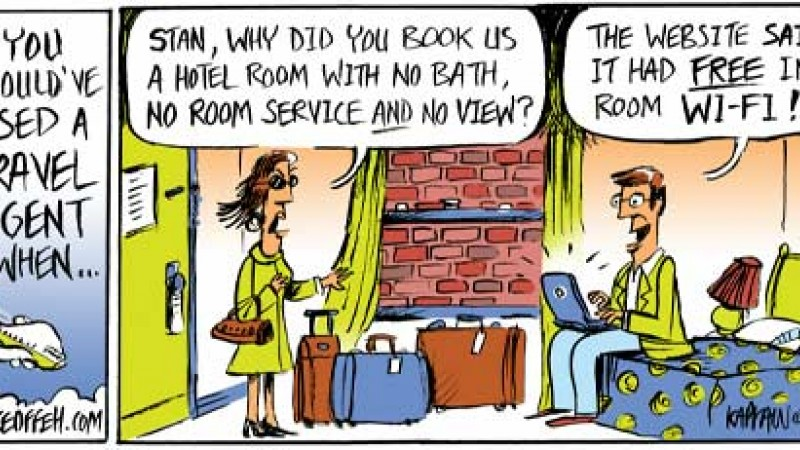 Travel Agent Cartoon